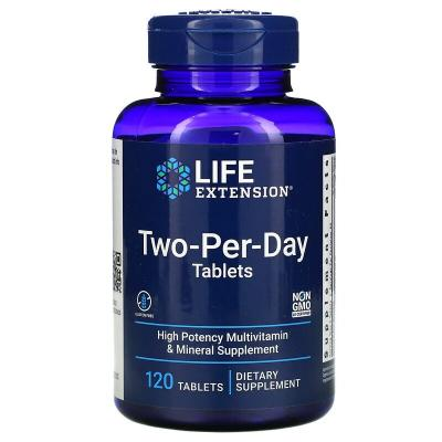 Мультивитамины, Two-Per-Day, Life Extension, 120 таблеток