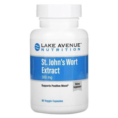 Экстракт зверобоя, St. John's Wort Extract, Lake Avenue Nutrition, 300 мг, 90 капсул