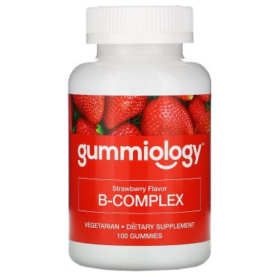 Комплекс витаминов В с клубничным вкусом, B Complex, Gummiology, 100 жевательных таблеток