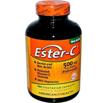 Эстер-С с цитрусовыми биофлавоноидами, American Health, 500 мг, 240 вегетарианских капсул