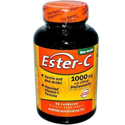 Эстер-С с цитрусовыми биофлавоноидами, American Health, 1000 мг, 90 капсул