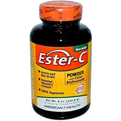 Эстер-С, порошок с цитрусовыми биофлавоноидами, American Health, 226,8 г (8 унций)