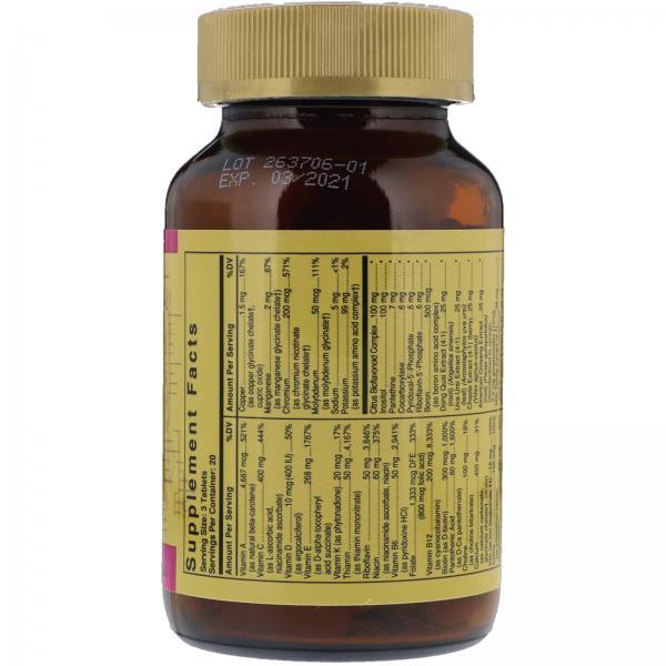 Мультивитамины для женщин, Female Multiple, Solgar, 60 таблеток