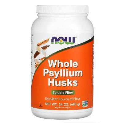 Цельная шелуха семян подорожника, Whole Psyllium Husks, Now Foods, 680 гр
