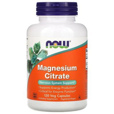 Цитрат магния, Magnesium Citrate, Now Foods, 120 капсул
