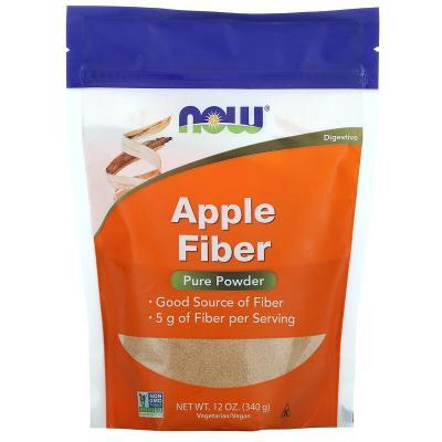 Яблочная клетчатка, чистый порошок, Apple Fiber, Now Foods, 340 г