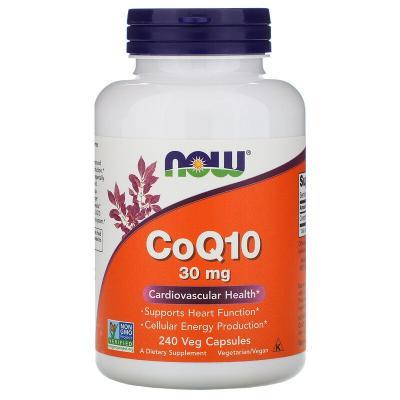 Коэнзим Q10, CoQ10, Now Foods, 30 мг, 240 капсул