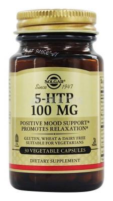 5-НТР, 5-гидрокси L-триптофан, Solgar, 100 мг, 30 капсул