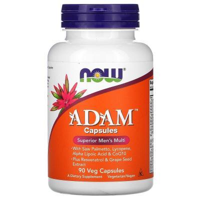 Витамины для мужчин, Adam Men's Multi, Now Foods, 90 капсул