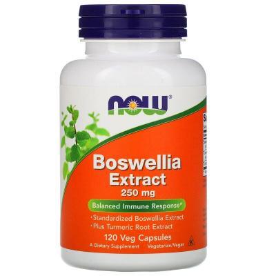 Экстракт босвеллии, Boswellia Extract, Now Foods, 250 мг, 120 вегетарианских капсул