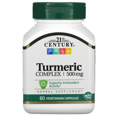 Комплекс с куркумой, Turmeric Complex, 21st Century, 500 мг, 60 вегетарианских капсул