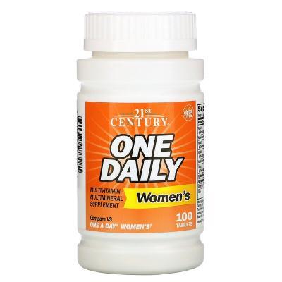 Мультивитамины для женщин, One Daily, 21st Century, 100 таблеток