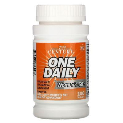 Мультивитамины и минералы для женщин 50+, One Daily, 21st Century, 100 таблеток