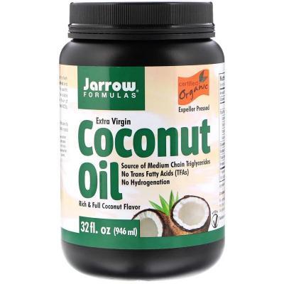 Органическое кокосовое масло, Extra Virgin Coconut Oil, Jarrow Formulas, 946 мл