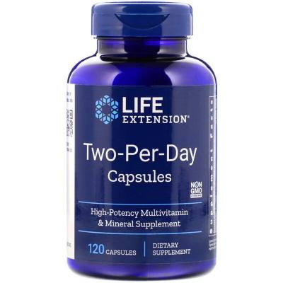 Мультивитаминная формула, Two-Per-Day, Life Extension, 120 капсул