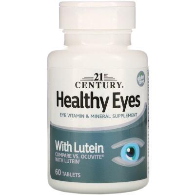Витамины для глаз, Healthy Eyes, 21st Century, 60 таблеток
