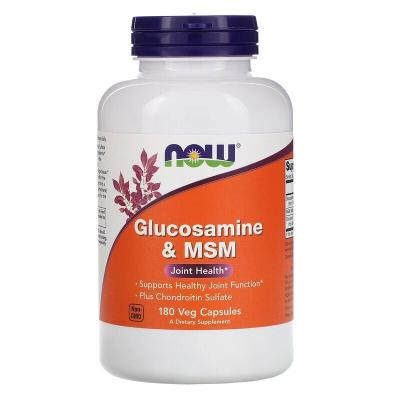 Глюкозамин & МСМ, Glucosamine & MSM, Now Foods, 120 гелевых капсул