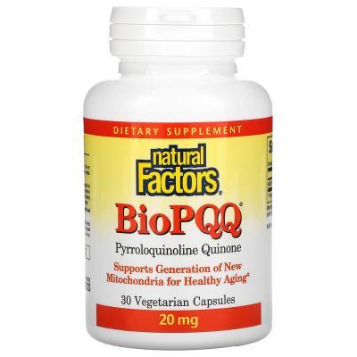 BioPQQ, Natural Factors, 30 вегетарианских капсул