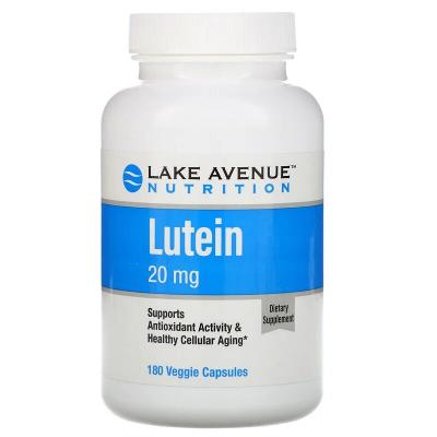 Лютеин, Lutein, Lake Avenue Nutrition, 20 мг, 180 капсул