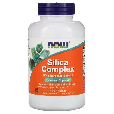 Кремниевый комплекс, Silica Complex, Now Foods, 180 таблеток