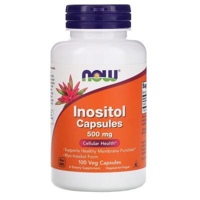 Инозитол, Inositol, Now Foods, 500 мг, 100 вегетарианских капсул