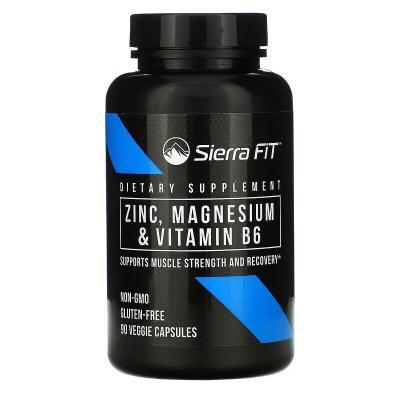 Цинк, магний и витамин B6, Sierra Fit, 90 растительных капсул