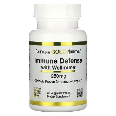 Защита иммунной системы, Immune Defense with Wellmune, California Gold Nutrition, 250 мг, 30 капсул