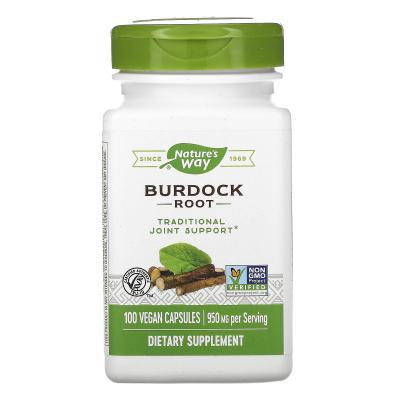 Корень Лопуха, Burdock Root, Nature's Way, 475 мг, 100 капсул