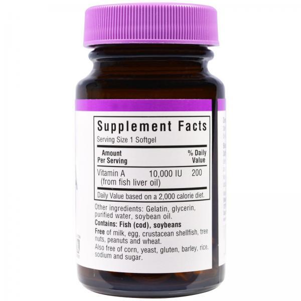 Витамин А, Vitamin A, Bluebonnet Nutrition, 10000 МЕ, 100 капсул