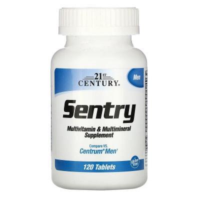 Мультивитамины и мультиминералы для мужчин, Sentry Senior, 21st Century, 120 таблеток