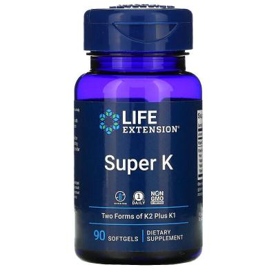 Витамин К, Super K, Life Extension, 90 мягких капсул