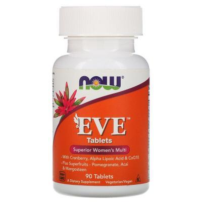 Мультивитамины для женщин, EVE, Now Foods, 90 капсул