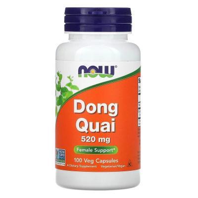 Дягиль лекарственный, Dong Quai, Now Foods, 520 мг, 100 капсул