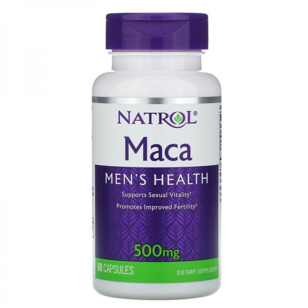 Мака перуанская, Maca, Natrol, 500 мг, 60 капсул