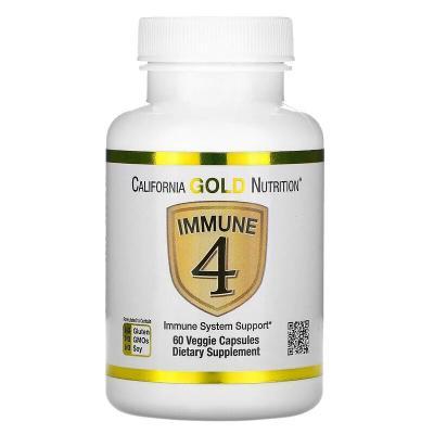 Средство для укрепления иммунитета, Immune4, California Gold Nutrition, 60 растительных капсул