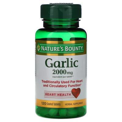 Чеснок, Garlic, Nature's Bounty, 2000 мг, 120 таблеток