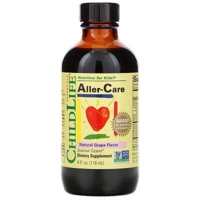 Важные питательные вещества, средство от аллергии, вкус натурального винограда, ChildLife 118,5 мл
