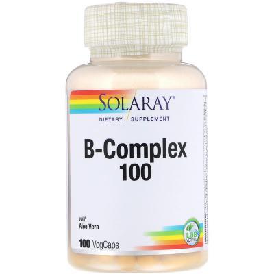 Комплекс В-100, B-Complex 100, Solaray, 100 капсул
