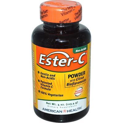 Эстер-С, порошок с цитрусовыми биофлавоноидами, American Health, 4 унции (113,4 г)