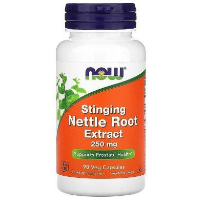Экстракт корня жгучей крапивы, Stinging Nettle Root Extract, Now Foods, 250 мг, 90 растительных капсул
