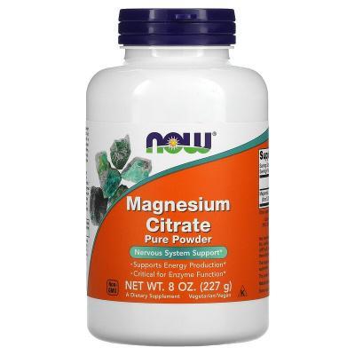 Цитрат магния, Magnesium Citrate, Now Foods, 100% чистий порошок, 227 г
