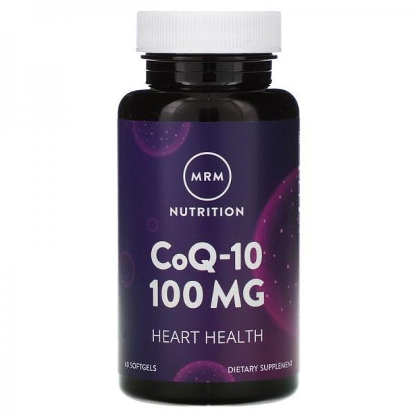 Коэнзим Q-10, CoQ10, MRM, Nutrition, 100 мг, 60 мягких таблеток