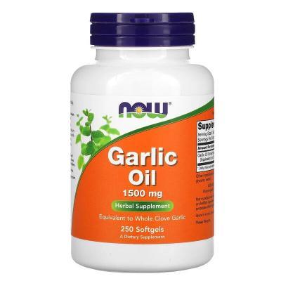 Чесночное масло, Garlic Oil, Now Food, 1500 мг, 250 капсул