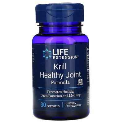 Формула здоровых суставов из криля, Krill Healthy Joint, Life Extension, 30 капсул