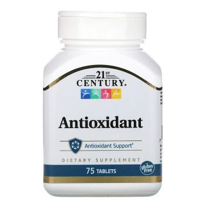 Антиоксидант, Antioxidant, 21st Century, 75 таблеток