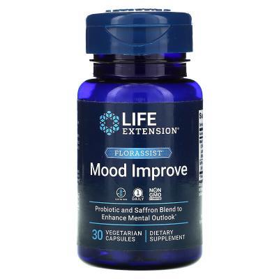 Улучшение настроения, Florassist, Mood Improve, Life Extension, 30 капсул