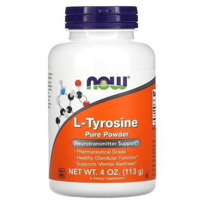 L-теанин, чистый порошок, L-Theanine Pure Powder, Now Foods, 113 г (4 унция)