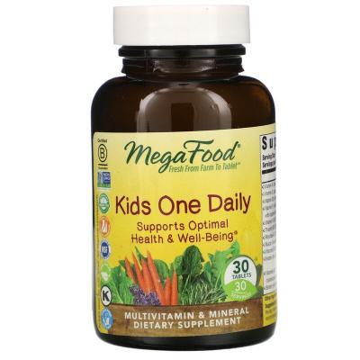 Детские ежедневные витамины, Kids One Daily, MegaFood, 60 таблеток