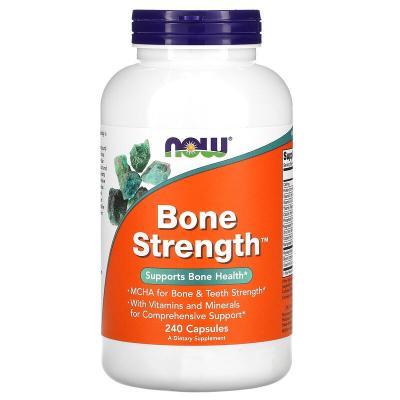 Поддержка здоровья костей, Bone Strength, Now Foods, 240 капсул
