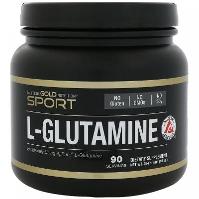 L-глутамин, AjiPure, California Gold Nutrition, 16 унций (454 г)